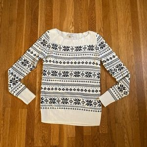 The Loft snow flake sweater size small
